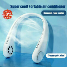 USB Portable 2-In-1 Air Cooler Mini Electric Air Conditioner Neck Fan White
