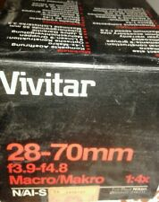 Vivitar nikon 28-70 mm f 3.9 f 4.8  macro makro 1:4× nuovo mint 216711 N AL S