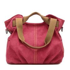 Women Satchel Canvas Shoulder Large Hobo Bag Tote Handbag Crossbody Messenger US