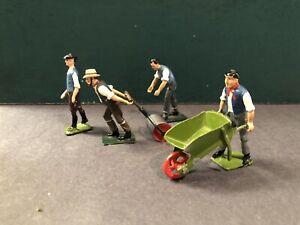 Britains & Others: Gardeners. 54mm Metal Models