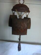 "Rustic Cow/Goat Bells/ Vintage patina 12"""