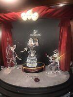 Swarovski Masquerade Trilogy Set - 1999, 2000, 2001 Annual Editions and Display