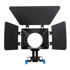Matte Box Sunshade for 15mm Rail Rod Support DSLR 5DII 60D D90 550D 600Dbla K0G4