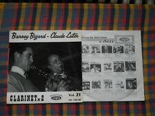 Barney Bigard Claude Luter Clarinet x 2 Vol. 21 LP - washed /gewaschen
