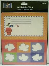 Hallmark USPS Peanuts Snoopy Flying Ace Red Baron Mailing Labels