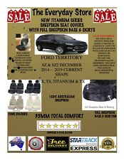 Ford Territory SZ/SZ2 14-19 Titanium Sheepskin Seat Covers All Over Btm Pr ABAG