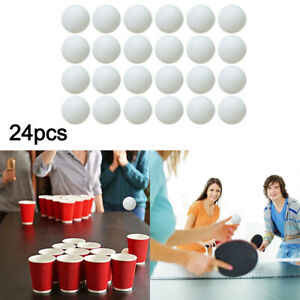 24Pcs Ping Pong Balls Bulk 40mm White Table Tennis Balls For Kids Playing Trophy