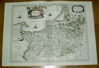 Ostpreußen Polen alte Landkarte Reproduktion 60 x 43 cm Ortelius 1595 Ansicht