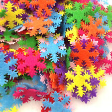 200pcs Padded Felt Mix Color Snowflake Appliques Craft Kid's Doll Lots