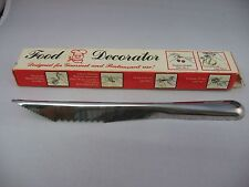 Vintage Kitchenware: FOOD DECORATOR Stainless Steel by Quikut ~ IN BOX ~