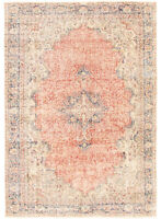 "Hand-knotted Turkish Carpet 6'9"" x 9'7"" Anatolian Vintage Traditional Wool Rug"