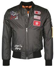 Top Gun Dragon Jacket Anthracite Bomberjacke Pilotenjacke