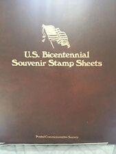 1976 U S BICENTENNIAL SOUVENIR STAMP SHEETS SCOTT 1686-1689 SET OF 4