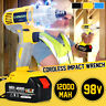 1/2'' Cordless Impact Wrench Electric Driver Hand Drill Li Battery Power Tool