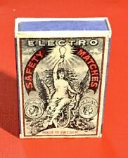 Genuine Vintage Attractive Mint Swedish Safety Matches —Full Box