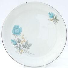 Vintage Barratts Delpahtic White Blue Roses Floral Side Tea Plate