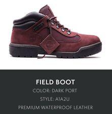 Mens Timberland Waterproof Field Boot Burgundy Black TB0A1A2U Size 13