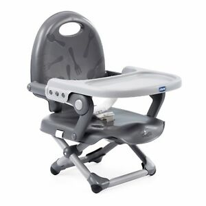 CHICCO Pocket Snack 3 Height BoosterSeat Feeding Travel Portable Chair BNIB GREY