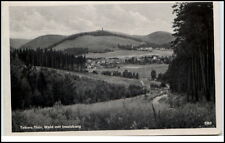 Tabarz Thüringen DDR Postkarte ~1957 Thüringer Wald mit Inselberg gelaufen