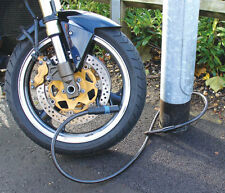 Bike or Motorcycle Hardened Security Cable Mammoth Loop & 'U' Cable Lock