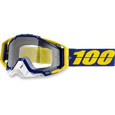 100% OCCHIALI MOTOCROSS Lindstrom Racecraft CHIARO MX ENDURO GIALLO BLU