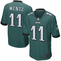 Youth Philadelphia Eagles Carson Wentz #11 NFL Nike Football Green Game Jersey