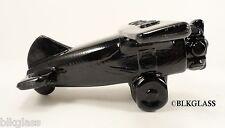 Boyd Jet Black Black Glass Airplane Plane  Novelty Propeller Top Wing Prop