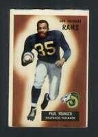 1955 Bowman #38 Tank Younger VGEX LA Rams 88918