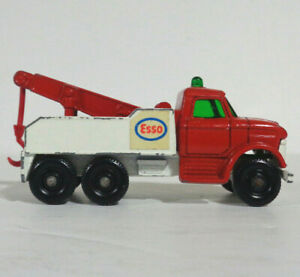 1968 Ford Heavy Wreck Truck No 71 Vintage Lesney Matchbox England Esso Tow Truck
