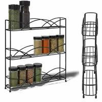 Kitchen Wall Mount Pantry Rack Spice Medicine Bottle Jars Holder Shelf Organizer