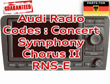 Car Stereos & Head Units with Security Code for Audi