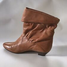 Rare Vintage Frye Jenny Pixie 8M Ankle Bootie Boots Heeled 80's Leather