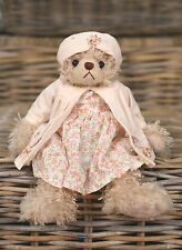 Teddy Bear 'Jodie' Settler Bears Handmade Floral Dress Gift 28cms BRAND NEW