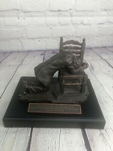 Bronze Resin Moments Of Faith Statue Man Praying Jeremiah 29:13