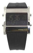 Tag Heuer Microtimer CS111C.FT6003 Digital Quartz Black Rubber Men's Watch