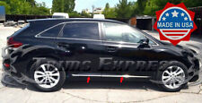 fit:2009-2017 Toyota Venza Flat Body Side Trim Molding 4Pc Stainless Accent