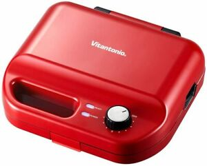 Vitantonio Waffle & Hot Sand Baker VWH-50-R With 2 Types Of Baking Red New Japan