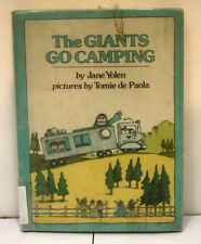 The Giants Go Camping by Jane Yolen & de Paola, Laminated Hardcover, Ex-Library