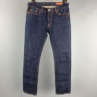 JEAN SHOP Size 34 Indigo Cotton Zip Fly Skinny Jeans