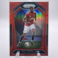 Paul Pogba 2020-21 Panini Prizm Premier League Soccer RED PRIZM 087/149 RARE