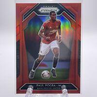 Paul Pogba 2020-21 Panini Prizm Premier League Soccer RED PRIZM 087/149 RARE