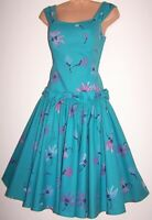 Laura Ashley Vintage Daisy Floral 50's Full Circle Rockabilly Swing Dress, UK 10