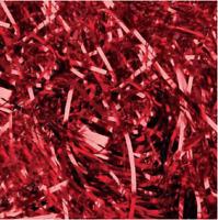 Red Metallic Foil Shredded Paper 28gs Christmas Gift Hamper Filling