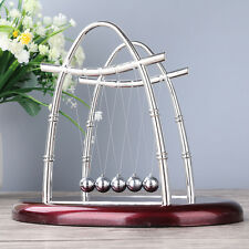Physics Science Fun Desk Toy Gift Arc-shaped Newtons Cradle Steel Balance Ball