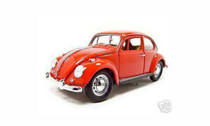 1967 VOLKSWAGEN VW BEETLE RED 1:18 MODEL CAR BY ROAD SIGNATURE  92078