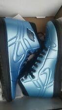 AIR JORDAN Retro 1 anodized BLUE black BASKETBALL SHOES SIZE 9.5