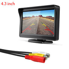 """Car Rear View Monitor 4.3"""" inch TFT LCD For Backup Camera Reverse Parking System"""
