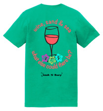 Hook N Buoy Wine Sand & Sea Front and Back DTG Unisex T-Shirt