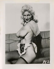 1950s Camera Club Era Risqué Snapshot Blonde French Maid Nude Pin-Up Photograph