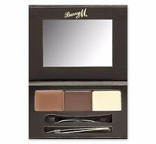 BARRY M SHAPE & DEFINE BROW KIT Eyebrow Powder Highlighter Wax Brush & Tweezers